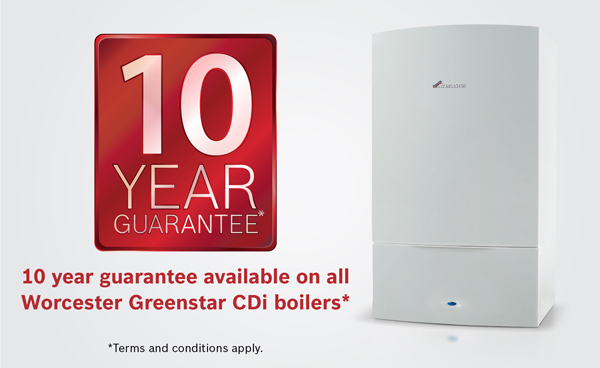 10 Year Guaranteed Worcester Bosch Accredited Installer